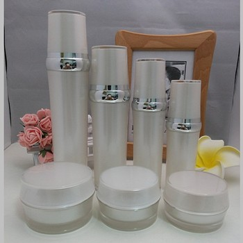 30g pearl white acrylic BARREL SHAPE bottle,Refillable Bottles cosmetic container,cream jar,Cosmetic Jar,Cosmetic Packaging