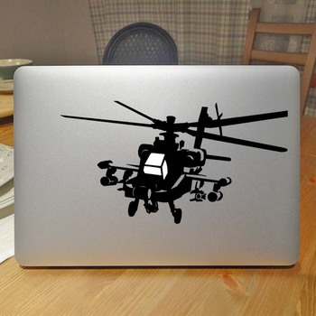 Helikopter Laptop Sticker Apple 2016 MacBook Pro 13 Hava Çıkartması Retina için 11 12 15 17 inç Vinil Mac HP Mi Dell Yüzey Kitap cilt -